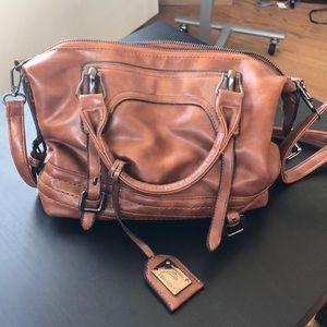 Handbags - Brown pleather handbag!